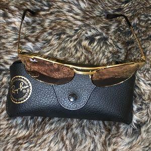 Beautiful rose gold lens Ray Ban sunglasses